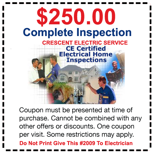 electrican coupon home inspection