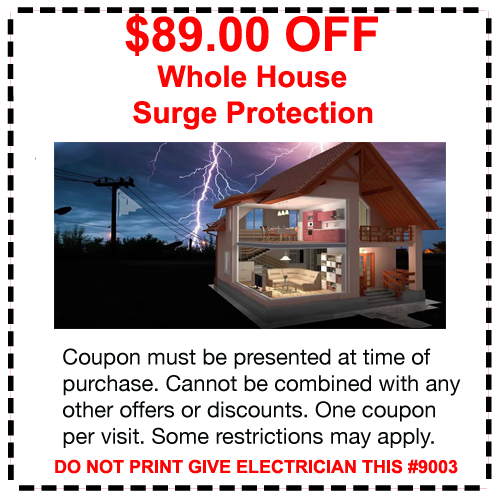 electrician Coupon whole house surge surpessor